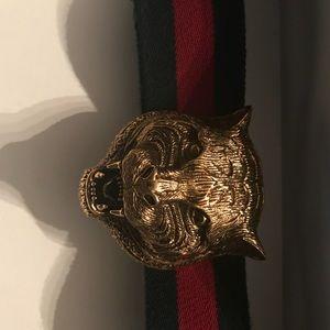 Men's tiger Gucci belt